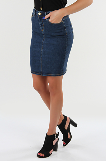 Vicommit Felicia Nederdel Blue denim
