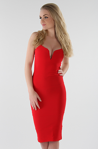 Dolly Bodycon Kjole Rød