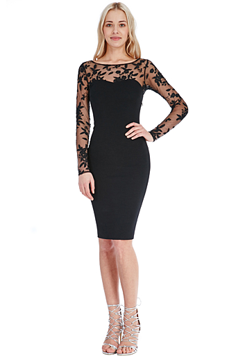 Jodie Bodycon Kjole Sort