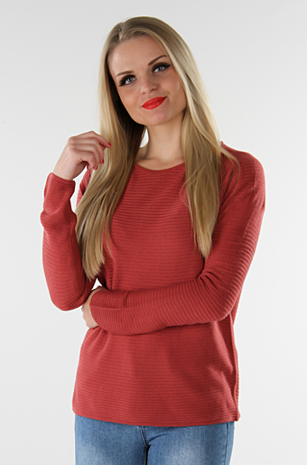 Vinati Stik Bluse Earth red