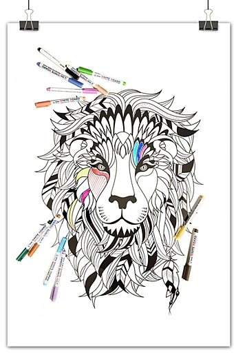 Whiteboard magnetisk tavle Sioux Lion