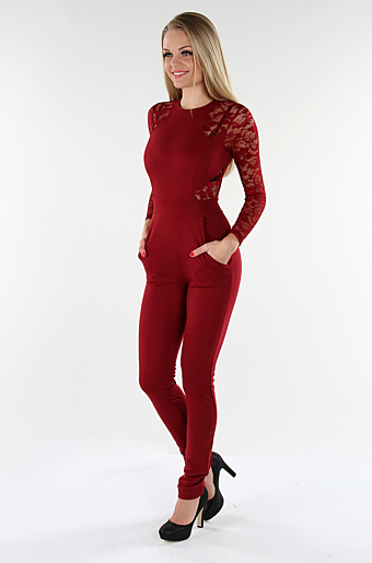 Hanny Jumpsuit Bordeaux