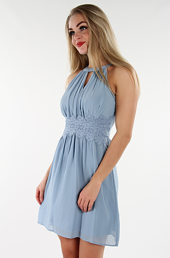 Vimilina Halterneck Kjole Ashley Blue