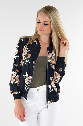 Ginea Floral Cardigan Navy