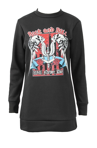 Rock and roll sweater Sort