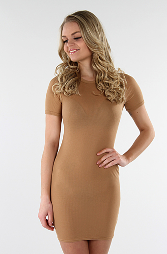 Cady Basic Bodycon Camel