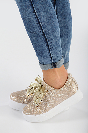 Kelly Glimmer Sneakers Guld