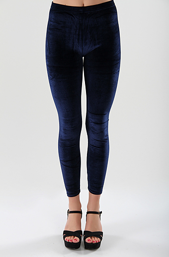 Velour Leggings Navy
