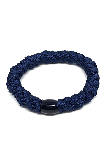 Braided Hairties Navy