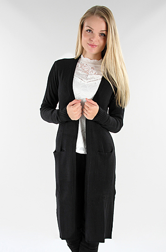 Viril Strikket Cardigan Sort