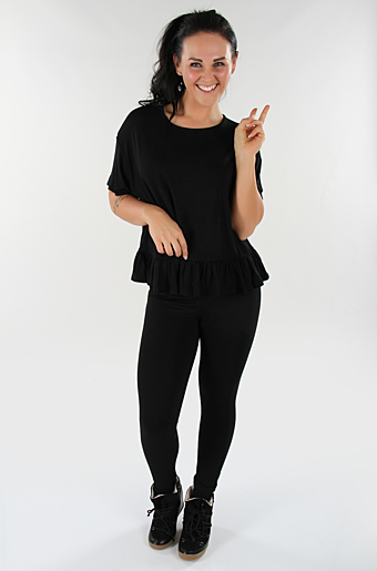 Sleeve Frill Top Sort