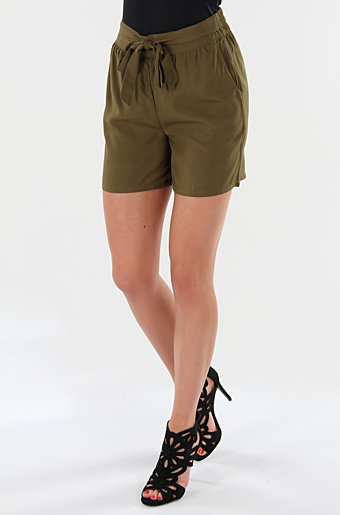 Viamona Shorts Dark Olive