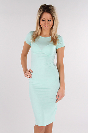 Basic Bodycon Kjole Mint