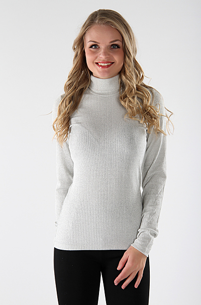 Vibright Rullekrave Bluse Cloud Dancer