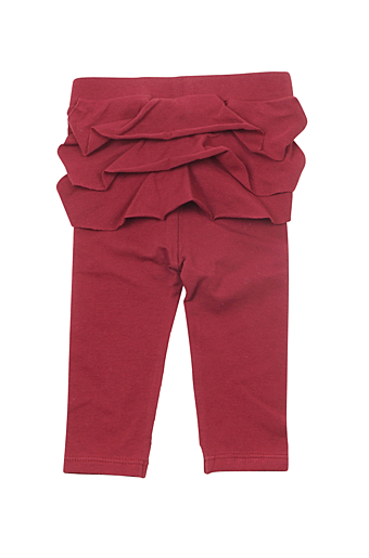 Ruffle Baby Leggings Bordeaux