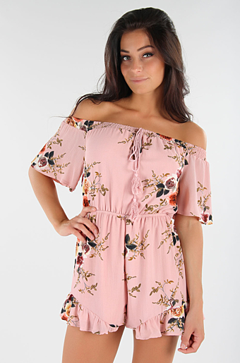 Leanne Playsuit Pink