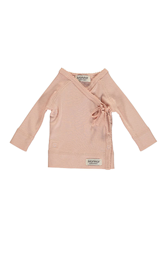 New Born Tut Wrap Bluse Cameo rose