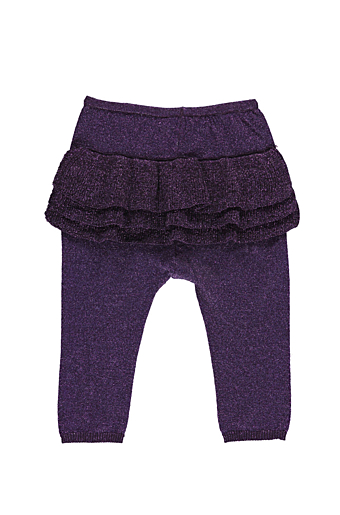 Pax Lurex Frill Bukser Purple Night