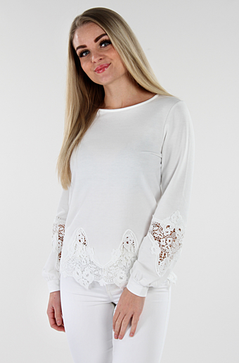 Viselace Bluse Whisper white
