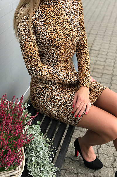 Brookelyn Kjole Leopard