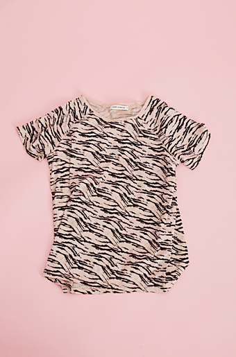 Zebra T-shirt Cameo rose