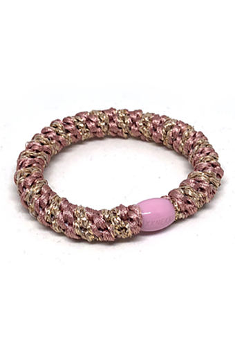 Braided Stribet Glitter Hairties Multi Antique rose med guld