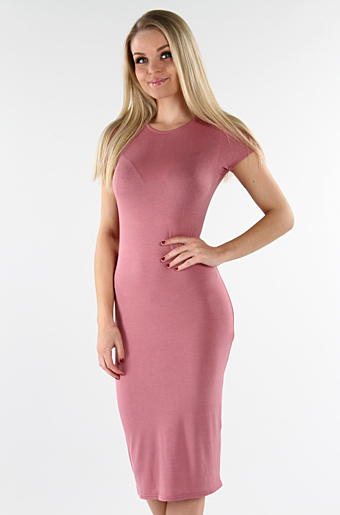 Basic Bodycon Kjole Rose