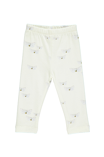 White Butterfly Malak Leggings Light Green