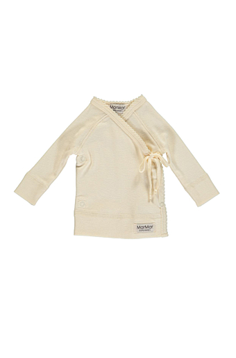 New Born Tut Wrap Bluse Offwhite