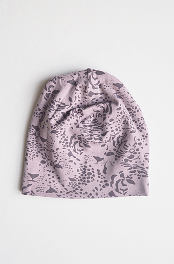 Kerstin Beanie Print Purple Rose