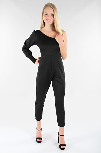 Avira One Shoulder Jumpsuit Sort