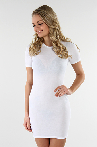 Cady Basic Bodycon Creme