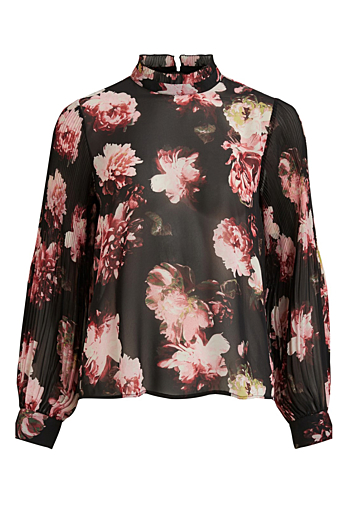 Vitaffy Bluse Black/Flowers