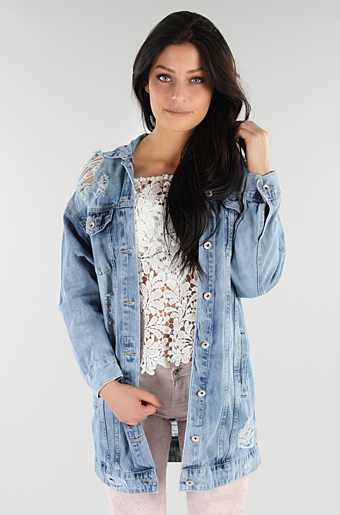 Oversize Denim Jakke Denim