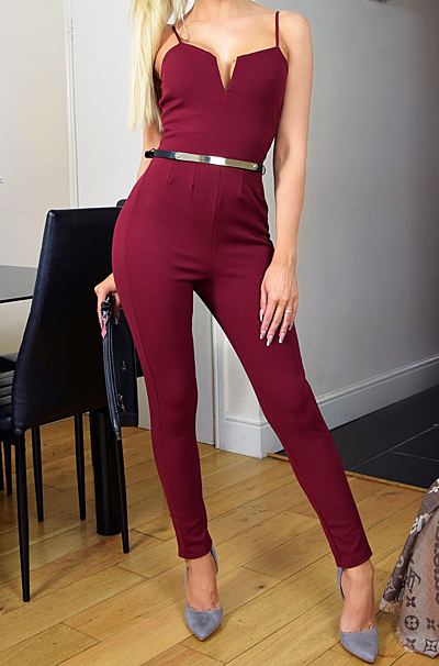 Ellie Jumpsuit Wine