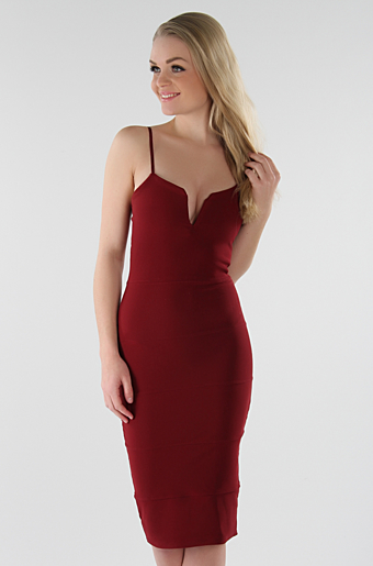Dolly Bodycon Kjole Wine