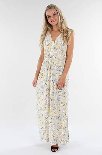 Vimosaly Primrose Maxi Kjole Cloud dancer