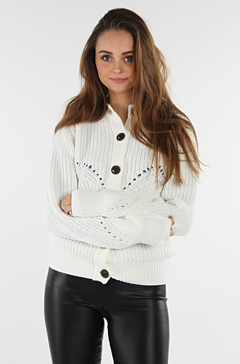 Vihermione Strik Cardigan Whisper white