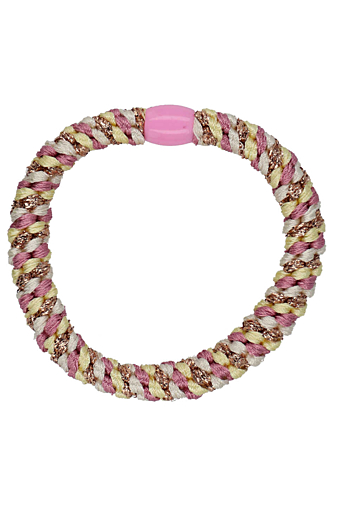Braided Stribet Glitter Hairties Multi Candy