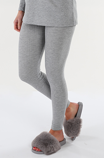 Ribbi Leggings Light grey melange