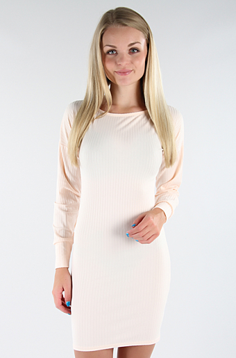 Lilly Bodycon Kjole Nude