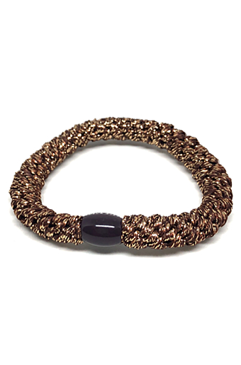 Braided Glitter Hairties Bronze