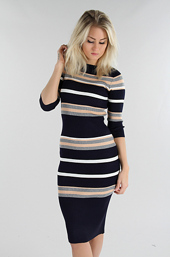 Sinea Bodycon Kjole Navy