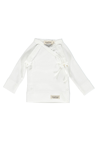 New Born Tut Wrap Bluse Gentle White