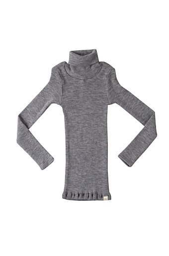 Alf Turtleneck Bluse Grey melange