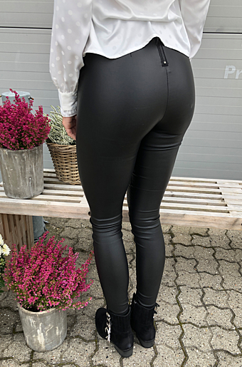 Vicommit Coated Leggings Sort