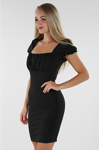 Amanda Bodycon Kjole Sort