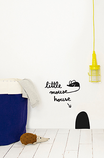 Wallstickers Mouse House Sort