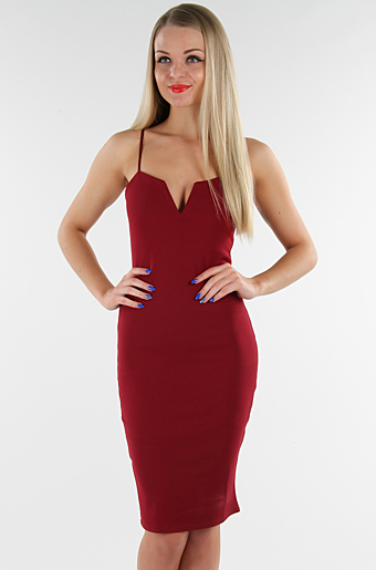 Sydney Bodycon Kjole Wine