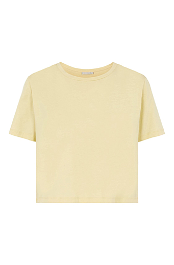 Rina Crop Top Pale Banana